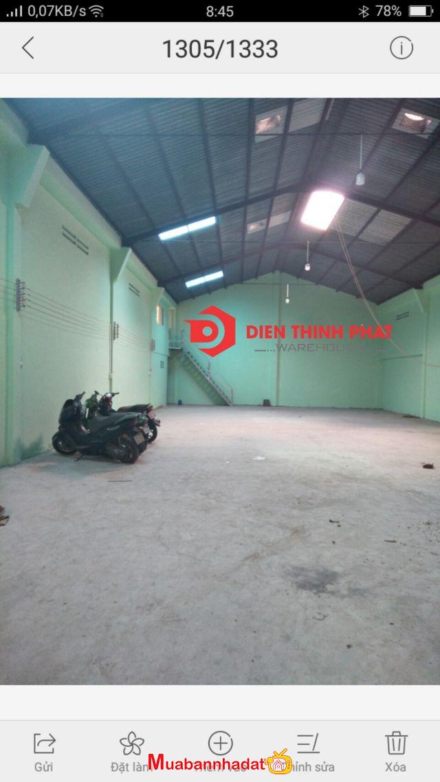 Cho thuê kho xưởng đường Ao Đôi quận Bình Tân 250m giá 18tr